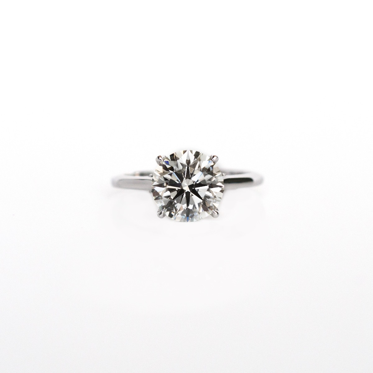 DBK Classic Solitaire Setting With Diamond Basket & Bridge In White Gold