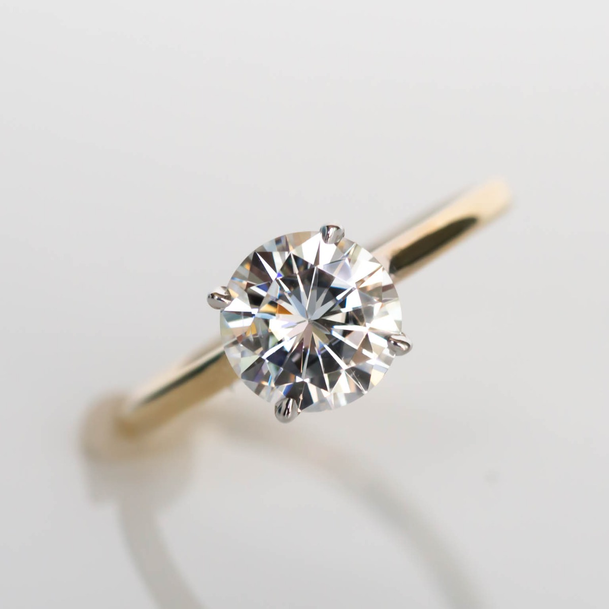 DBK Classic Solitaire Setting With Diamond Basket Only in Yellow Gold
